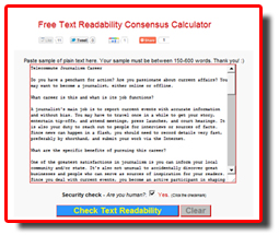 Free Readability Calculations